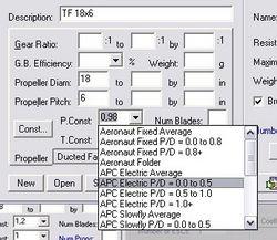 В графах P и T-Const задается тип винта и производитель
