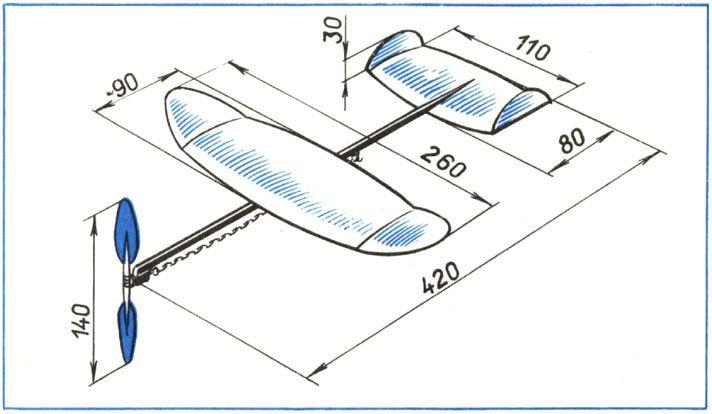 Схема самолета из картона своими руками