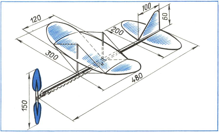 Как сделать летающий самолёт своими руками в домашних условиях 71
